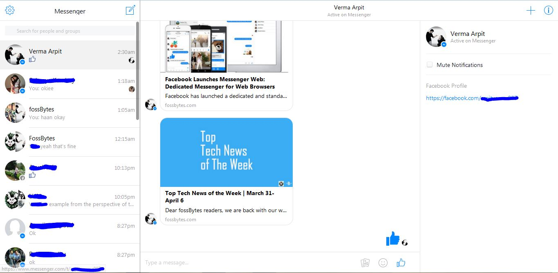 Facebook Messenger ahora está en una versión Web para usuarios de países angloparlantes.