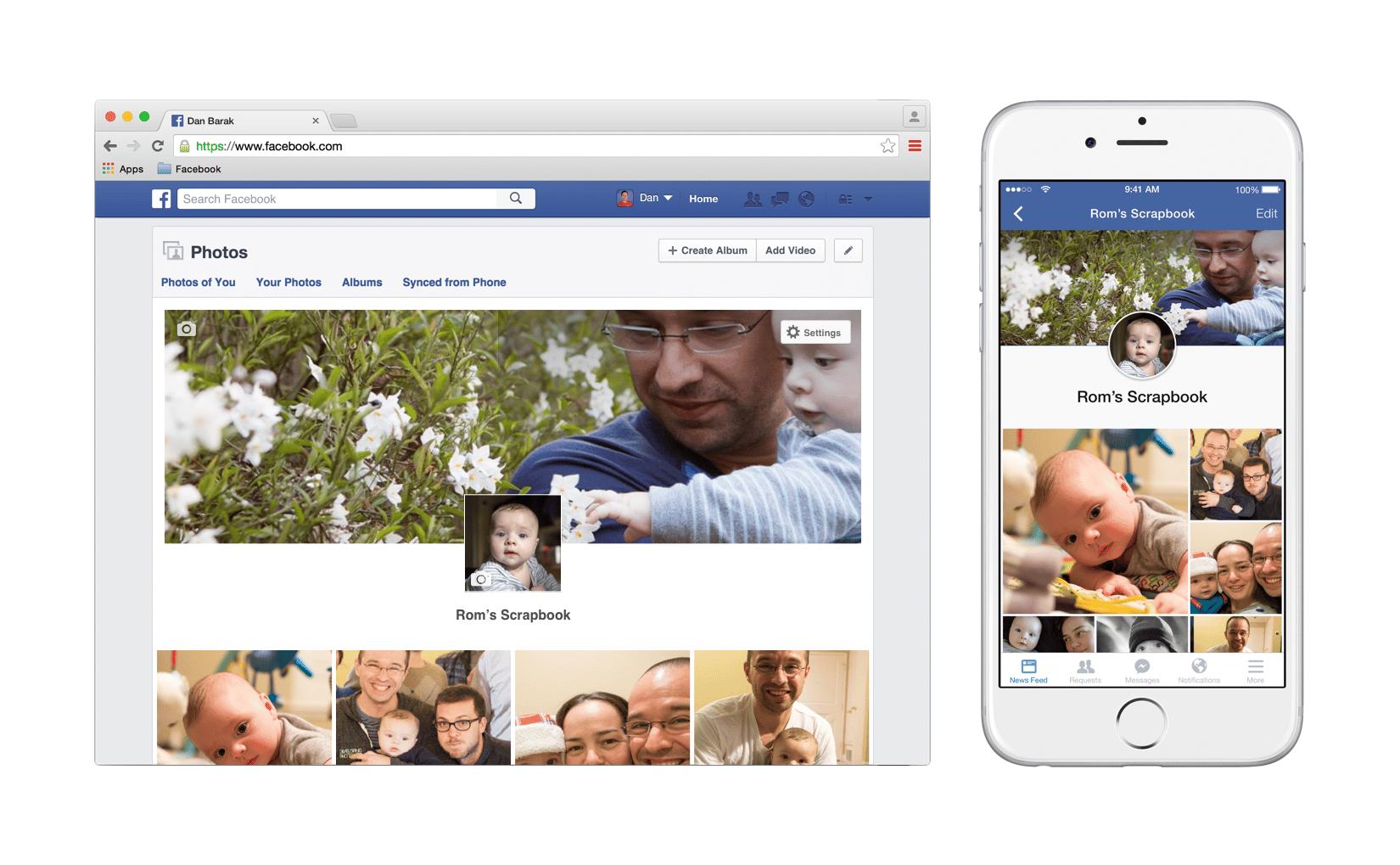 Facebook prepara un álbum especial para subir imágenes de hijos.