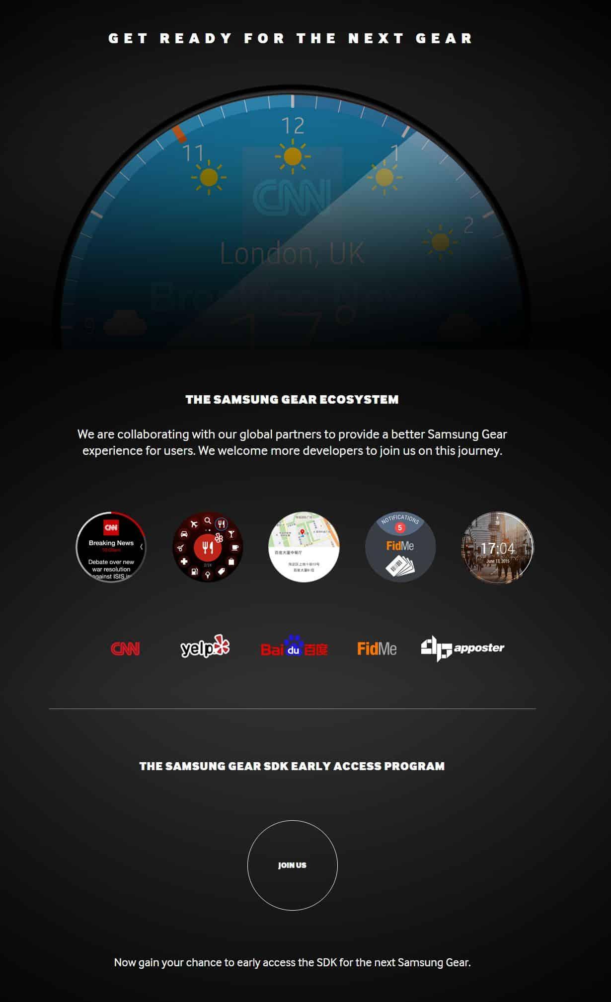 Samsung firmó convenios con empresas para incorporar sus aplicaciones a Galaxy Gear.
