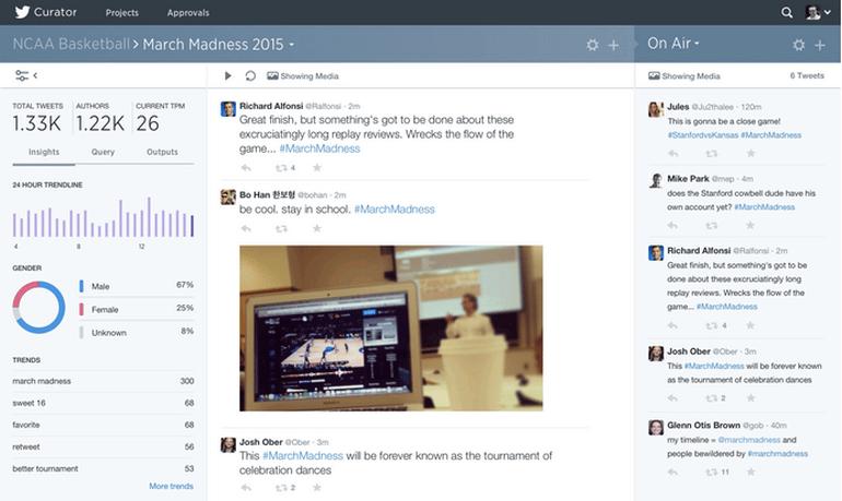 Curator permitirá a usuarios y medios de comunicación realizar filtraciones de contenidos y analizar sus publicaciones en tiempo real.