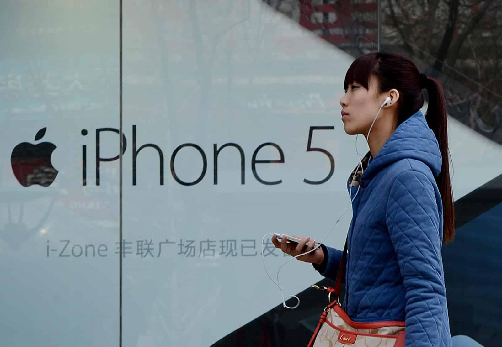 Apple consiguió por primera vez ser el fabricante de smartphones con más ventas en China.