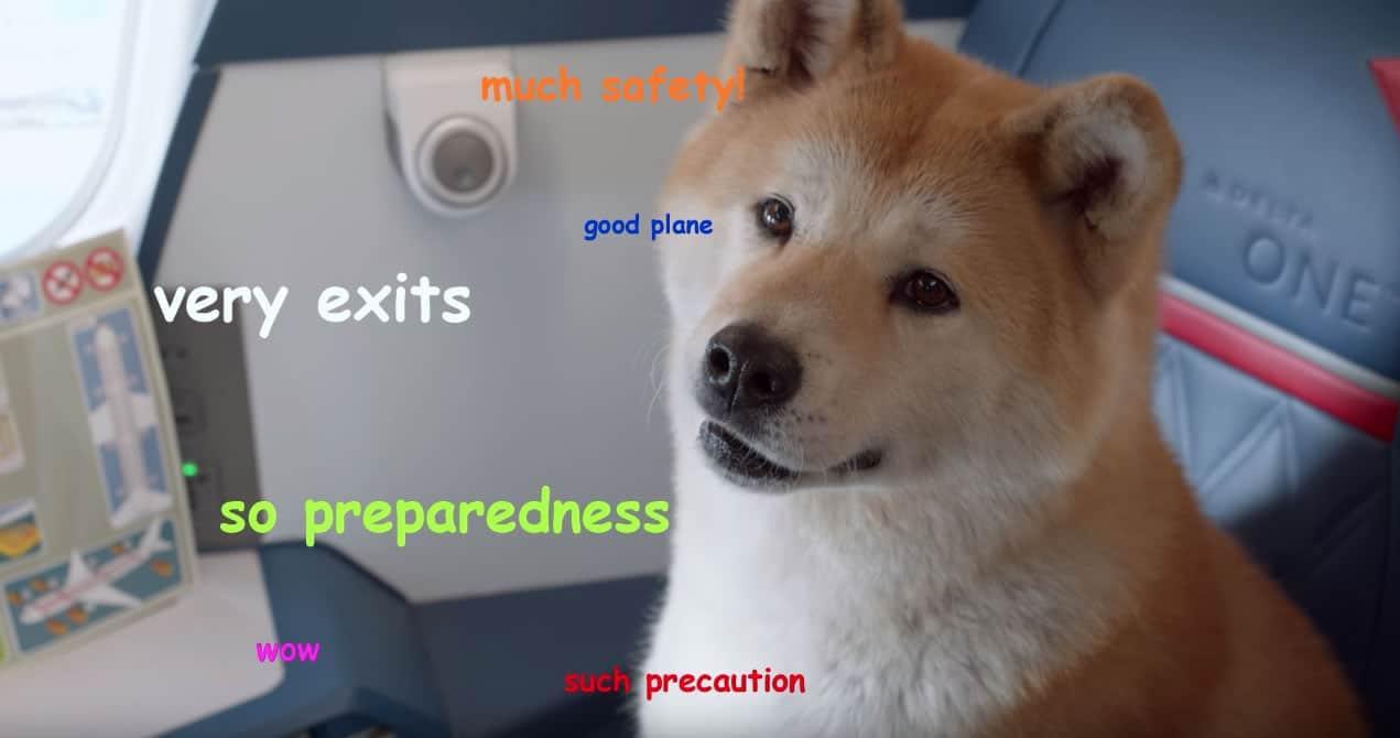 Memes como 'Doge' están presentes en el clip.