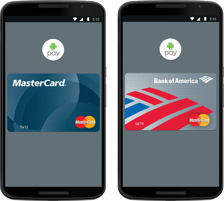 MasterCard y Android Pay ofrecerán pagos móviles a usuarios de dispositivos Android.