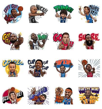 Así serán los stickers de la NBA en LINE.