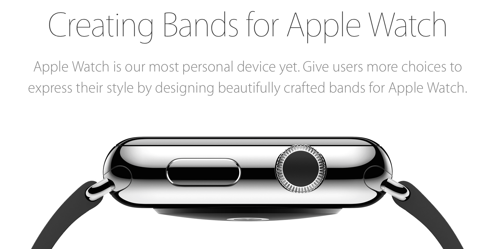 'Made for Apple Watch' es el programa para fabricantes externos hagan productos en torno al smartwatch.