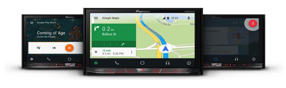 AVIC-F70DAB, AVIC-F77DAB y AVH-X8700BT son los modelos compatibles con Android Auto.