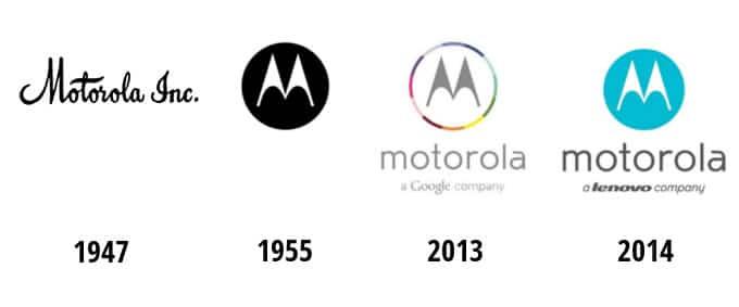 Evolución del logo Motorola.