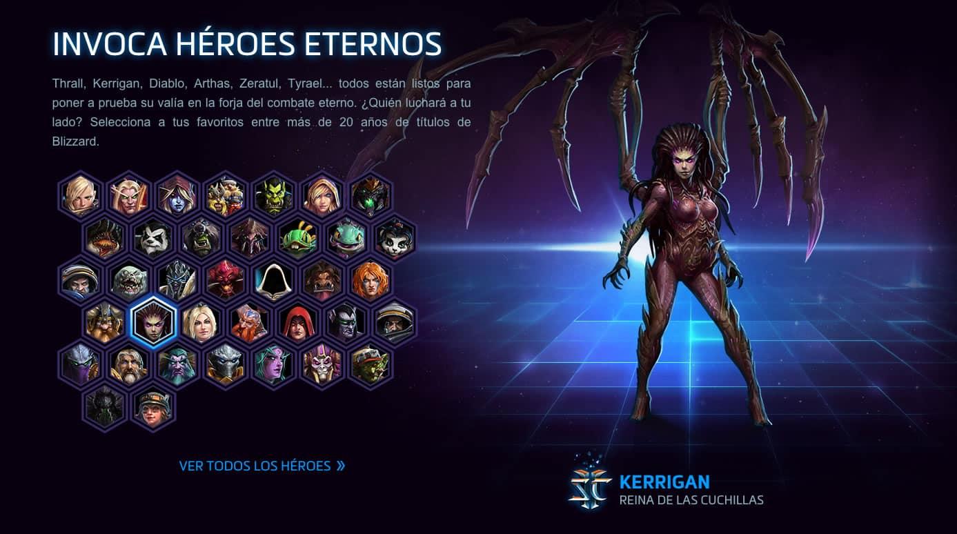 Clásicos personajes, como la villana Kerrigan de Starcraft, encontrarás en Heroes of the Storm.