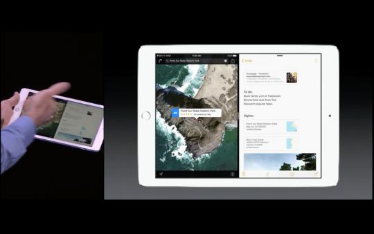 iOS 9: La multitarea y el'split view' que podrás usar en el iPad Air 2, fueron valoradas por los asistentes al keynote.