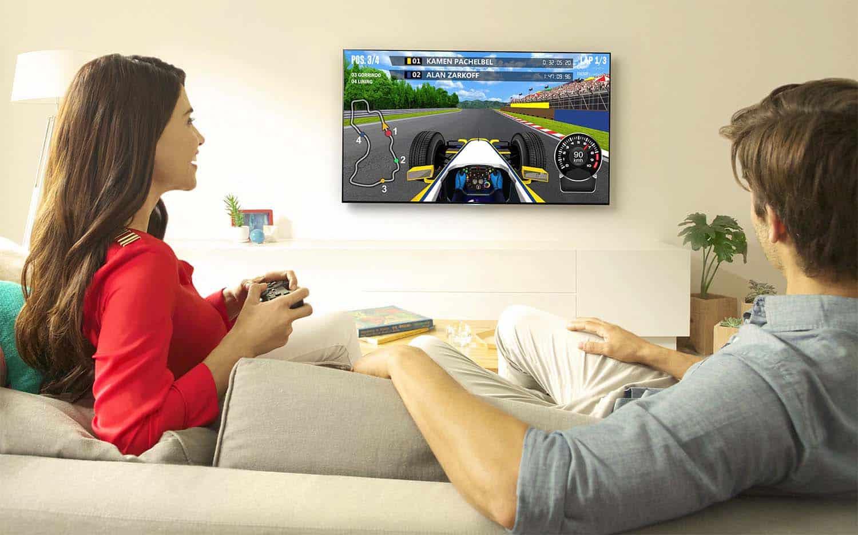 Los nuevos televisores con Android dan la opción de conectar un mando inalámbrico y jugar.