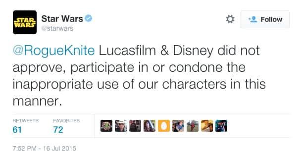 Star Wars no aprueba parodia de Amy Schumer.