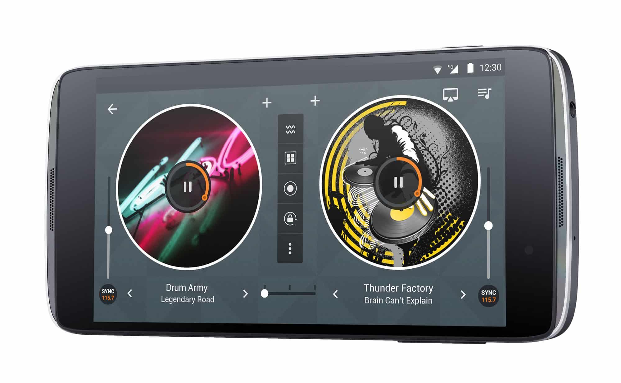 Así luce la aplicación de DJ en el Alcatel Onetouch IDOL3.