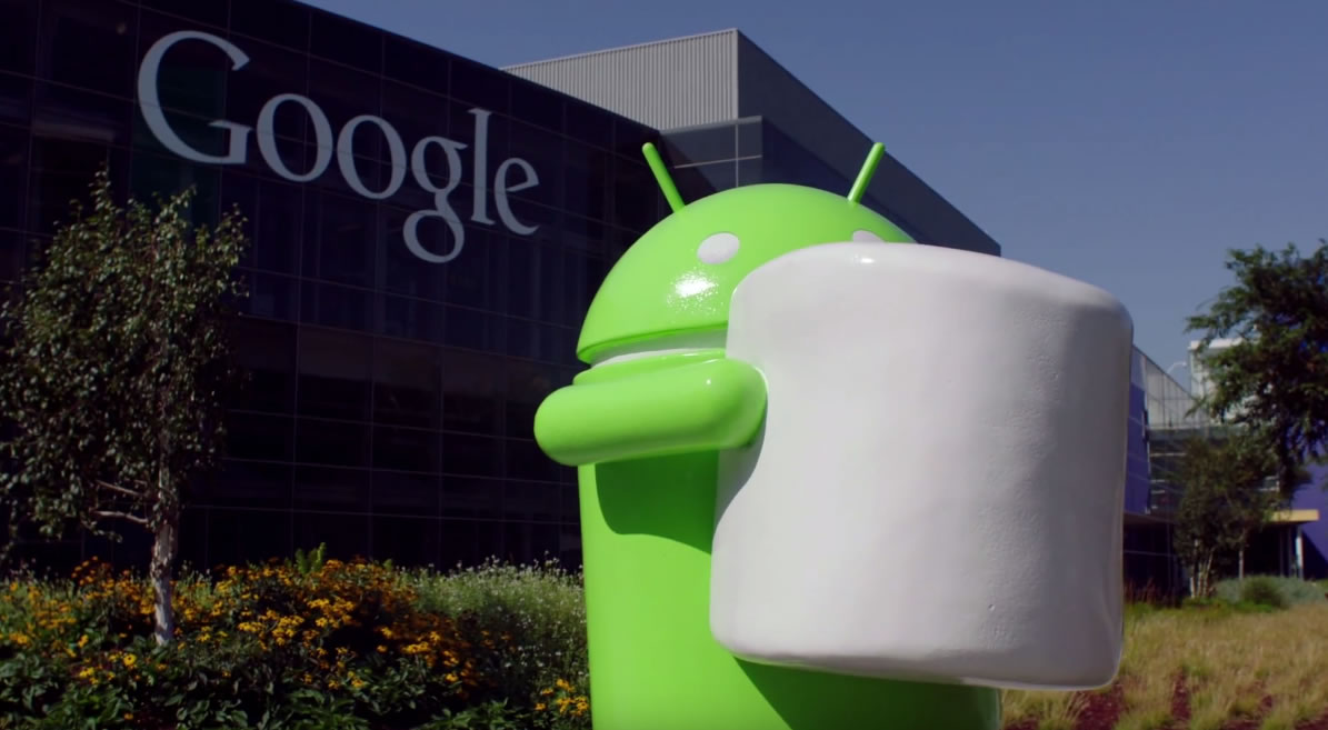 Así luce la estatua inaugurada de Android con un marshmallow.