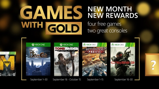 Games With Gold septiembre 2015