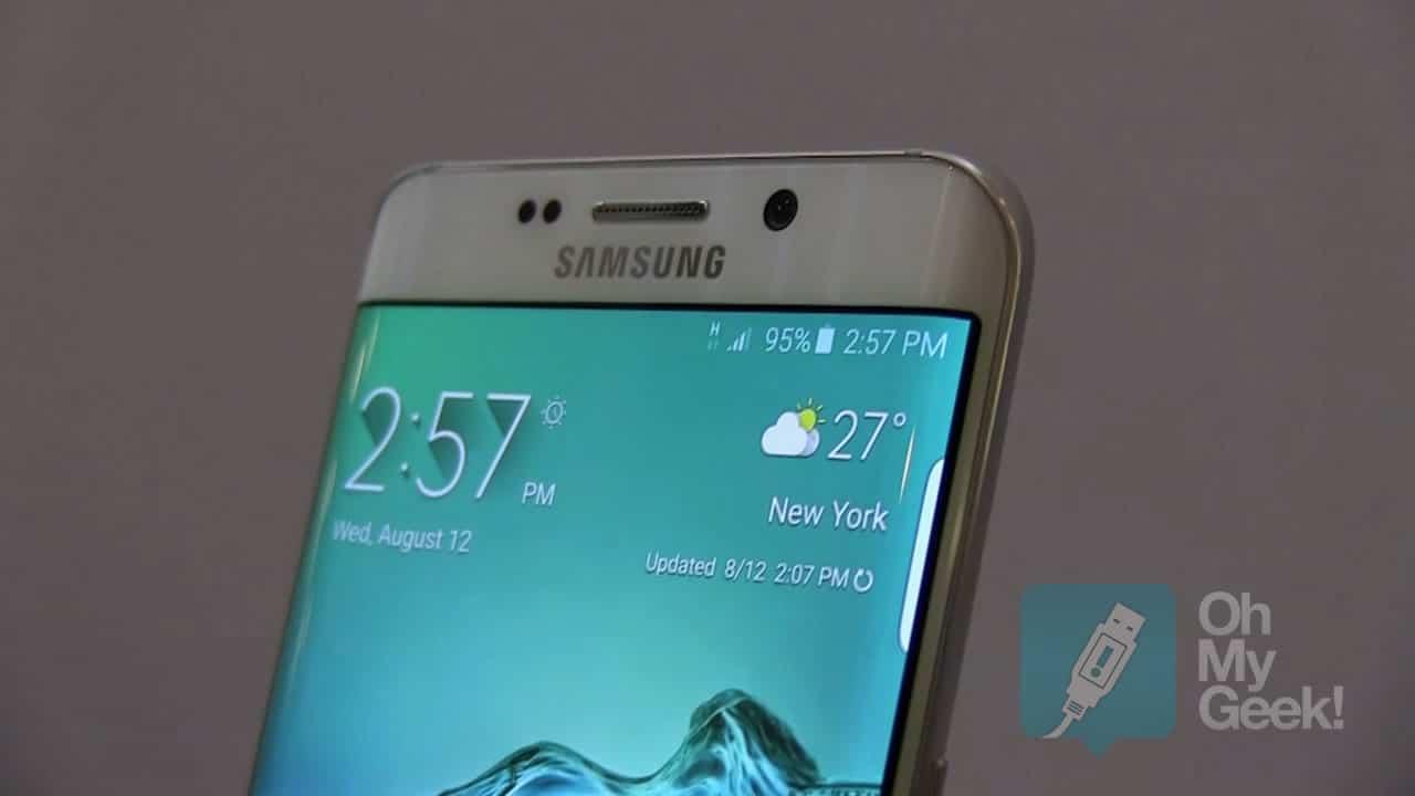 La pantalla QUAD HD del Galaxy S6 edge+, viene con tecnología OLED curva.