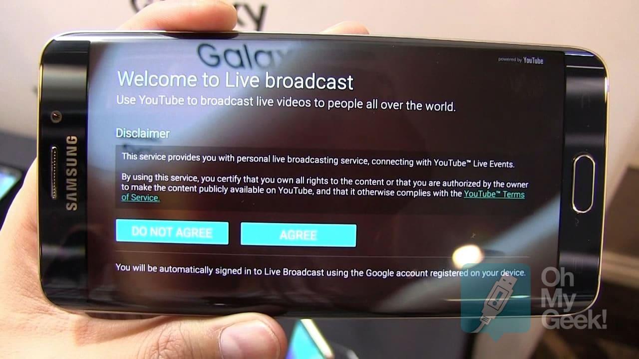 Con el Galaxy S6 edge+ podrás hacer streaming a YouTube directamente desde la App de la cámara.