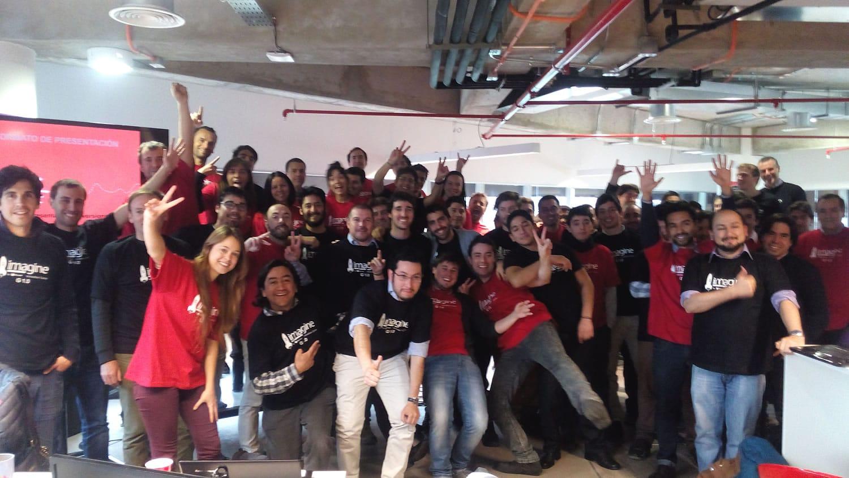 Emprendedores de Imagine Business Lab en su primera versión chilena.