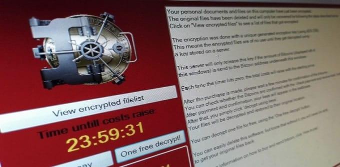 Un ransomware encripta documentos y después pide dinero para liberarlos.