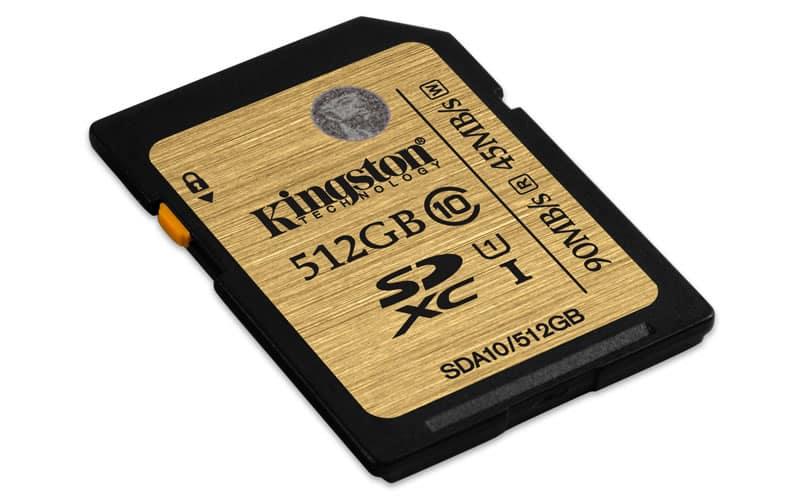 Tarjeta SDHC/SDXC UH1 Clase 10 de 512GB.