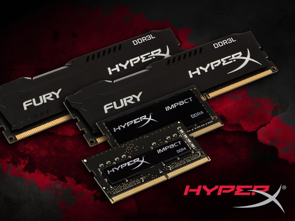 HyperX FURY DDR3L y HyperX Impact DDR4.