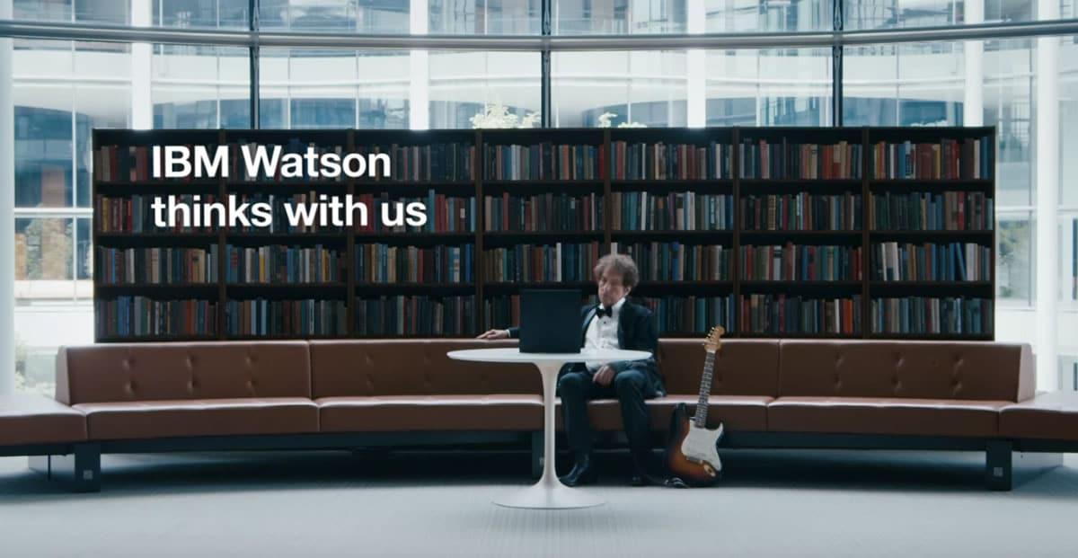 Video con Bob Dylan: La idea de la campaña es demostrar el poder cognitivo de Watson.