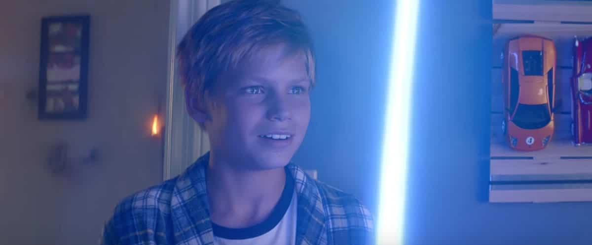 Parte del comercial de Duracell con Star Wars.