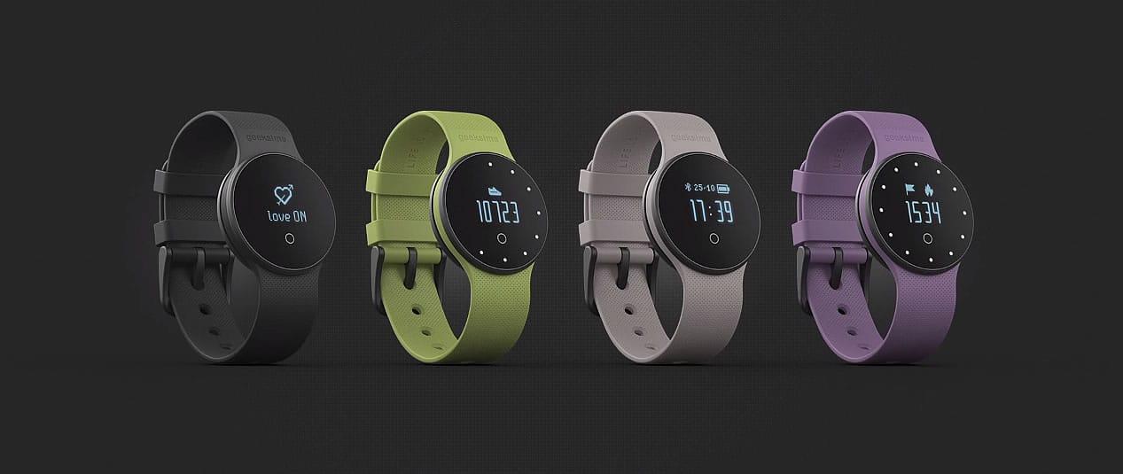 Reloj mide sexo: Geeksme GME1 en sus cuatro colores.