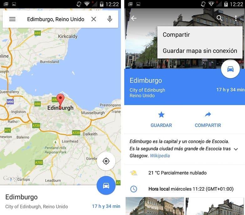 Los mapas offline de Google Maps sólo se podían descargar en ciertas ciudades del mundo.
