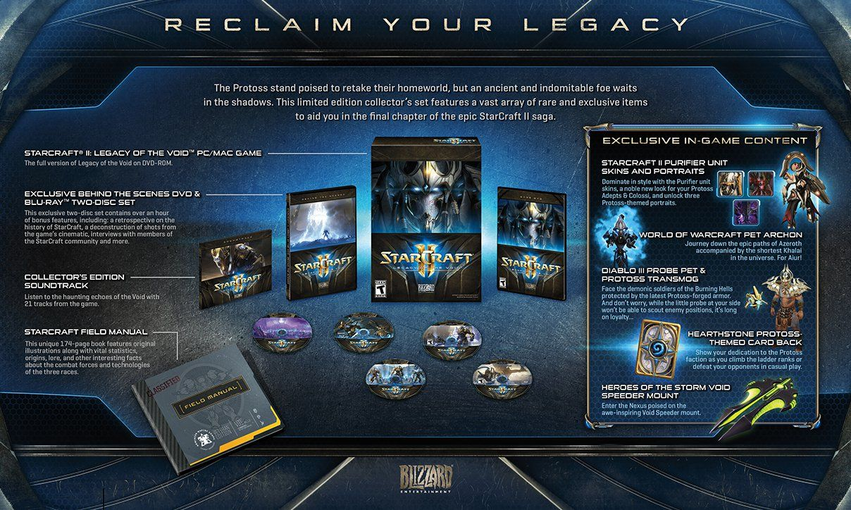 StarCraft II: Legacy of the void - Collector's Edition.
