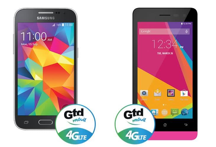 Sólo dos equipos 4G LTE está comercializando GTD Móvil.