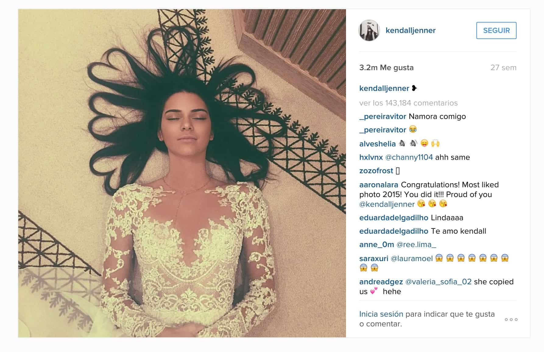 Kendall y la foto de su pelo, lo más popular en Instagram.