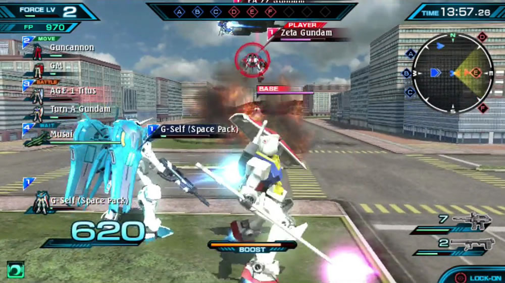 Mobile Suit Gundam Extreme VS-Force en PS Vita.