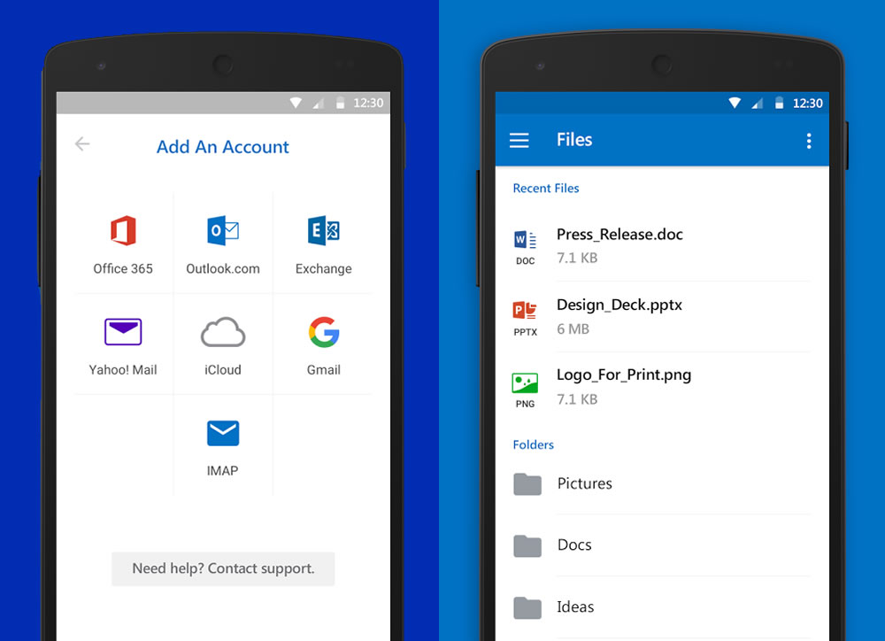 La App de Outlook conecta con otros servicios de correo y almacenamiento.