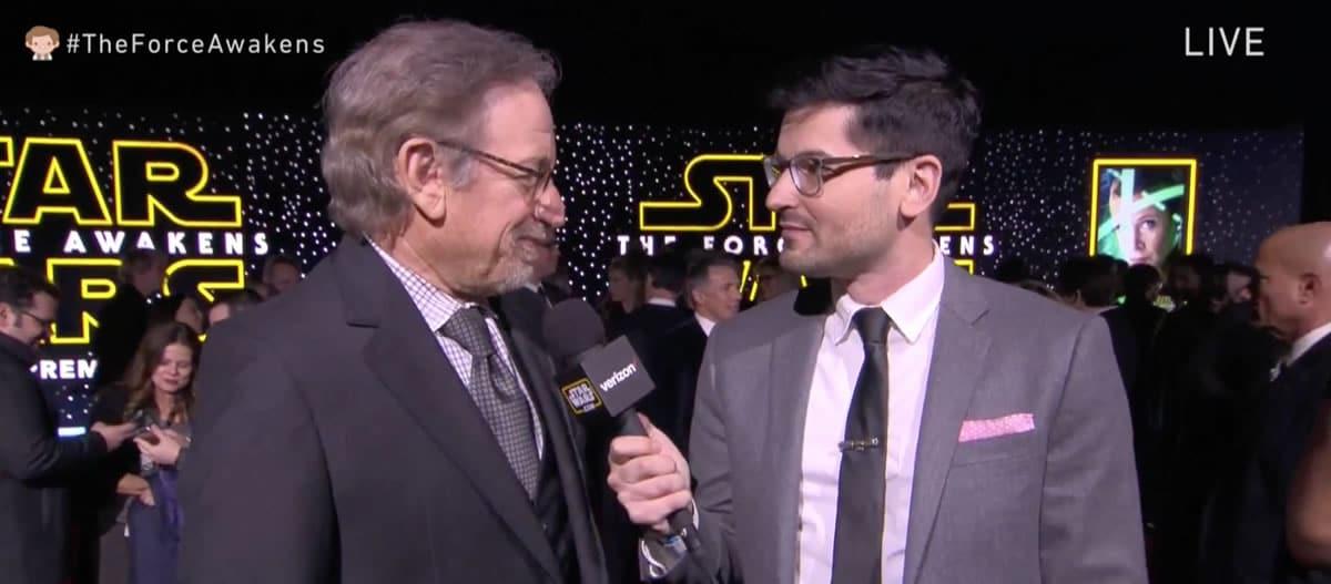 Star Wars: El despertar de la fuerza - Steven Spielberg ya está en la alfombra roja de esta premiere.