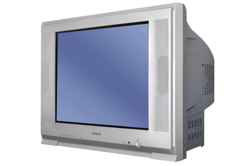 El televisor CRT era pesado y con una caja que se proyectaba hacia atrás de a pantalla.