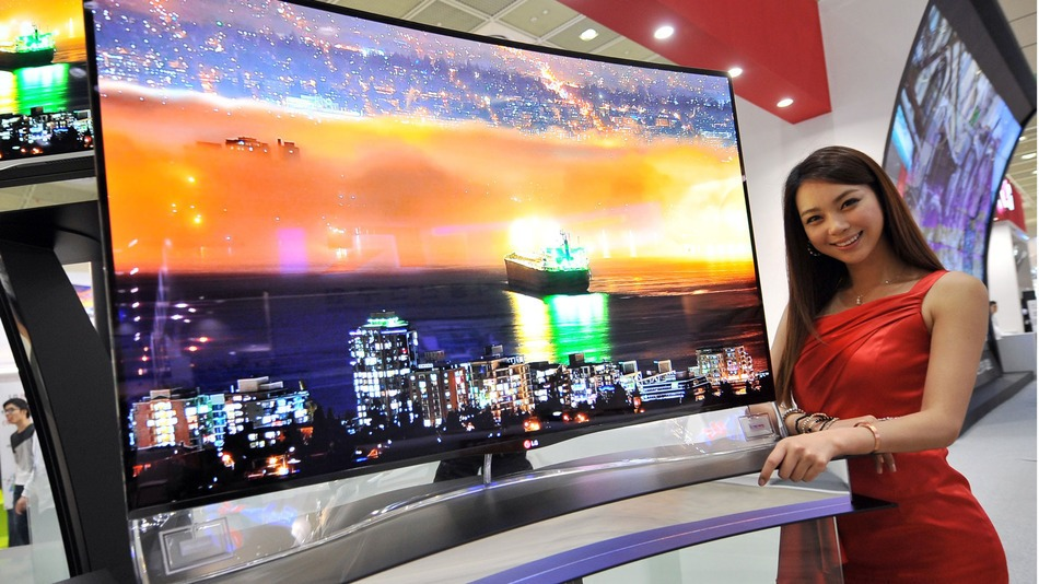 Así luce un televisor OLED Curvo.