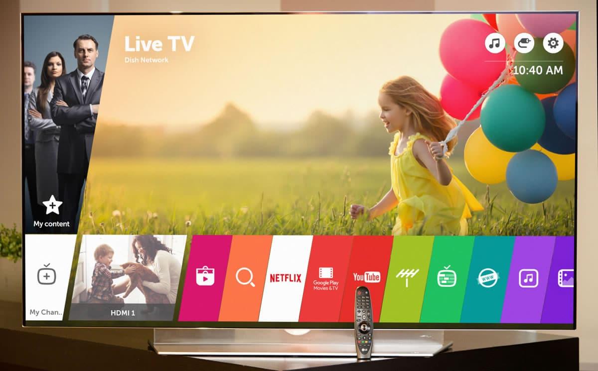 webOS 3.0 en una Smart TV LG.