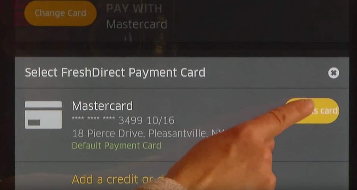 Groceries by MasterCard te permite pagos con tarjetas de créditos.
