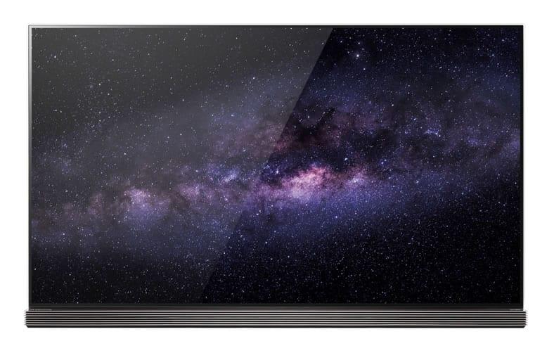 Así lucen los televisores LG OLED TV, modelo G6.