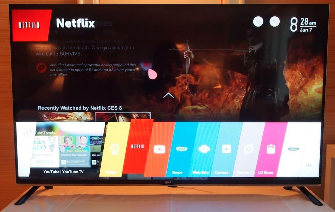 Netflix en una TV LG con webOS.
