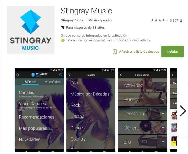 Stingray en Google Play.