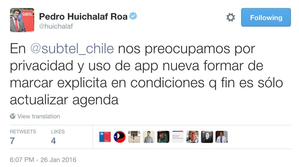 Tweet Huichalaf App SUBTEL 01