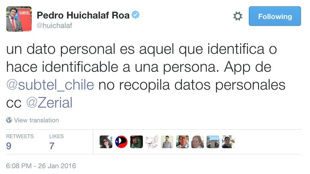 Tweet Huichalaf App SUBTEL 02
