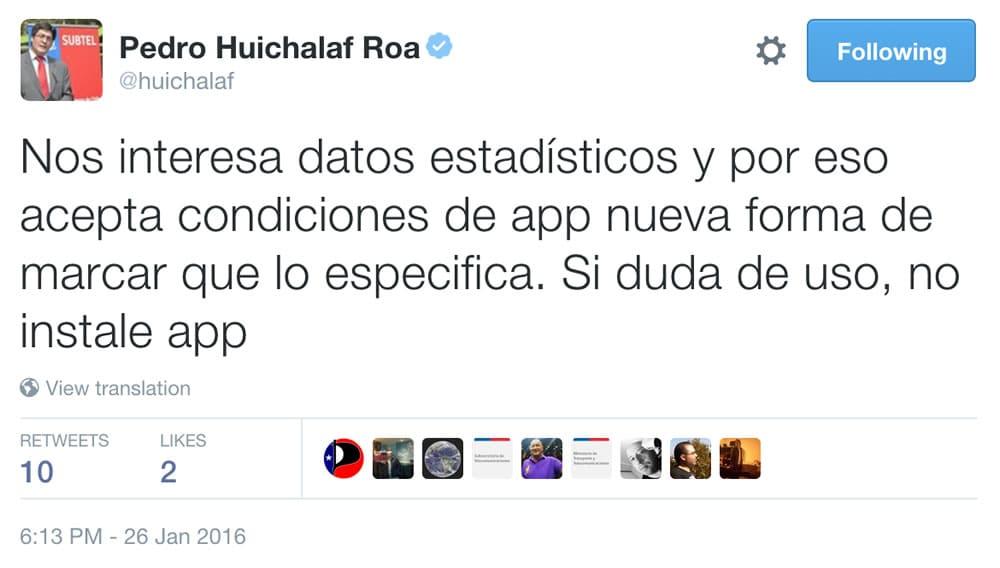 Tweet Huichalaf App SUBTEL 03