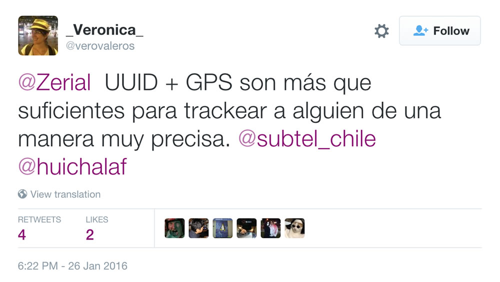 Tweet VeroValeros App SUBTEL