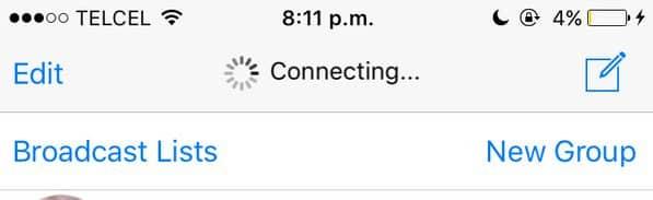 WhatsApp no conectaba cuando entrabas a la App.