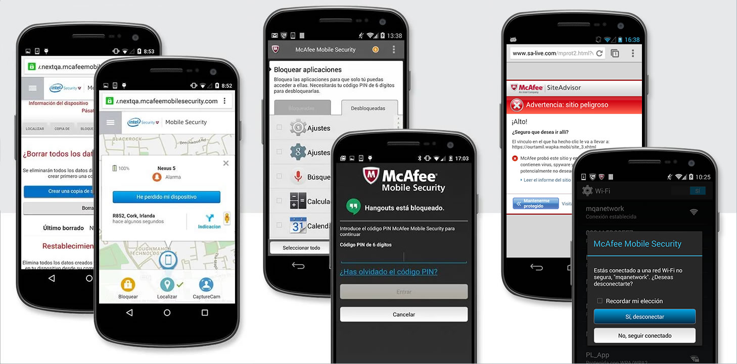 McAfee VirusScan en Android.