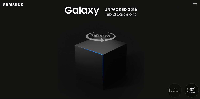 Samsung hará el streaming de su nuevo Galaxy en 360 grados.
