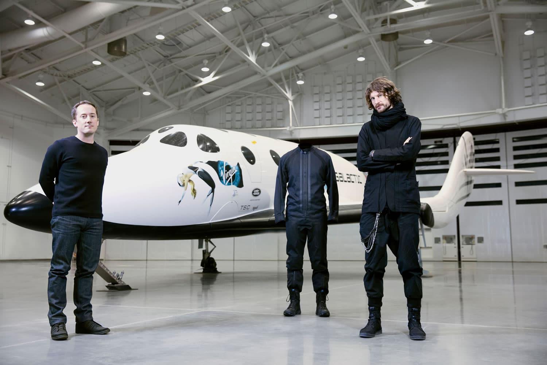 Así lucen los prototipos de ropa para Virgin Galactic.
