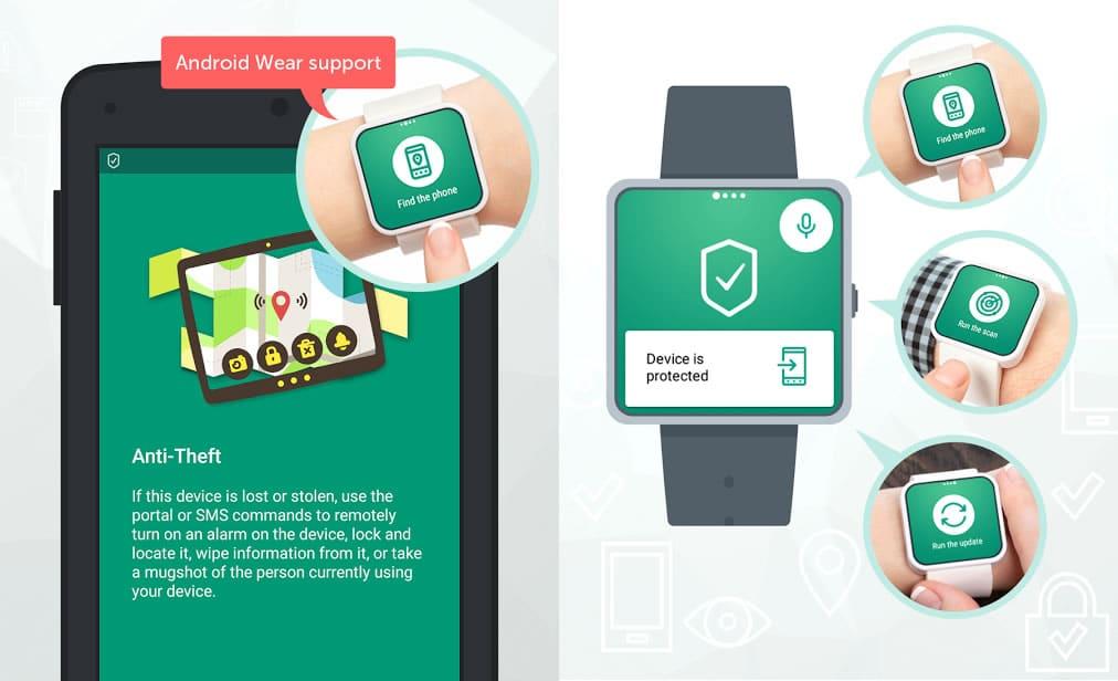 Kaspersky en móviles ahora soporta protección para Android Wear.